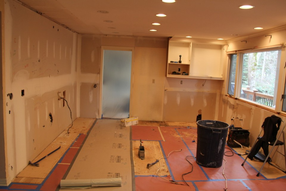 Laurel Springs Remodel: Where did my kitchen go? - Kaufman Homes